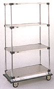 Dolly Cart with Solid Shelves